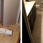 bathroom tile placement